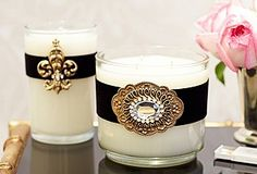 decorated candles - cool idea