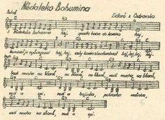 Nědaleko Bohumína | Spolek Prokop Příbram Sheet Music, Sad, Music Sheets