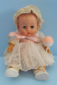 VINTAGE 1950'S GINNY SISTER GINNETTE DOLL IN TAGGED OUTFIT