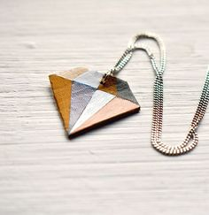 DIY Jewelry: DIY Geometric Diamond Necklace