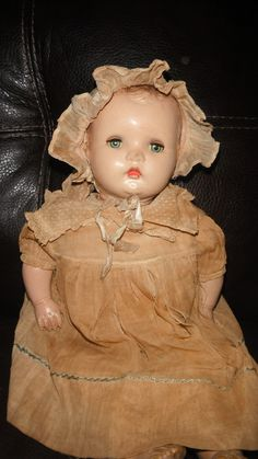 All original antique composition baby doll
