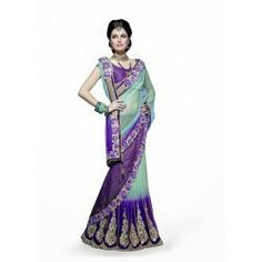 Designer Patch Border Saree Crafted With Embroidery Work, Zari, Stone, Sequence and Dangler http://justshopin.com/index.php?route=product/product&path=94&product_id=942