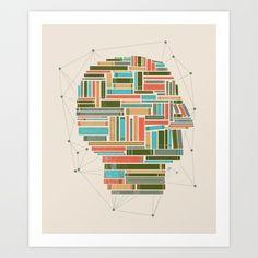 Socially Networked. Art Print by Matt Leyen - $18.00