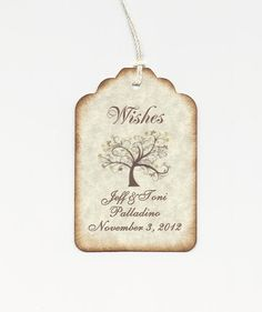 Home, Furniture & DIY Ribbon 50 Personalised Love Birds Wedding Favour Wish Wishing Tree Tags Labels Wedding Supplies