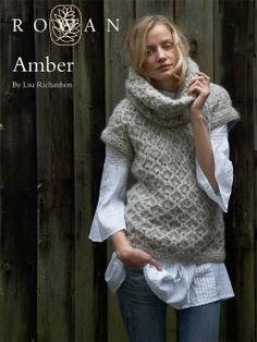 Amber sweater pattern by Lisa Richardson (knitting, turtleneck, sleeveless… Rowan Knitting Patterns, Knit Patterns, Free Knitting, Knitting Sweaters, Knitting Machine, Knit Cowl, Knit Vest, Knit Crochet, Rowan Yarn