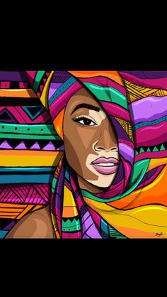 15 Ultra Talented Portrait Artists to Check Out Right Now via Brit + Co. Afrique Art, African Paintings, African Drawings, Black Artwork, Black Girl Art, Afro Art, African American Art, Arte Pop, Dope Art