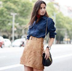 How to Wear a Suede Skirt   POPSUGAR Fashion