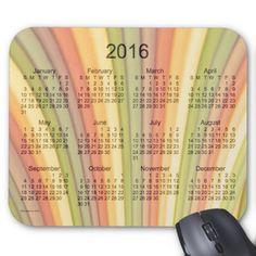 Rainbow Art 2016 Calendar by Janz Mouse Pad