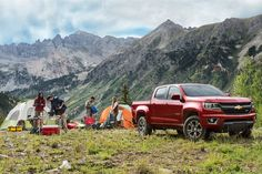 Colorado is a top pickup truck for camping!