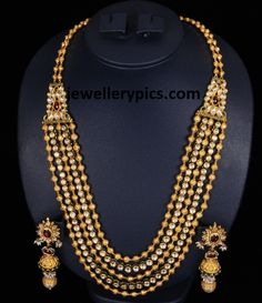 Latest Gold gundla mala |gundla haram designs by VBJ - Latest Jewellery Designs jewellerypics.com