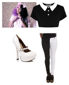 """""""Song Outfit (2) Dollhouse"""" by nbrmacdonald ❤ liked on Polyvore featuring Dollhouse, Killstar and Ellie"""