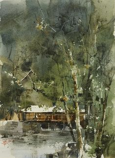 Chien Chung Wei   025 世外桃源寫生 27.3 x 37.3 cm (8開)