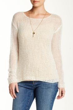Mohair Blend Open Weave Sweater by Eileen Fisher on @nordstrom_rack
