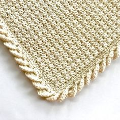 PATTERN KIT TO PURCHASE - CROCHET - incl. yarn, pattern - Pure Love crochet baby blanket pattern kit - includes baby blanket crochet pattern and organic cotton yarn to make a gorgeous organic cotton baby blanket - a perfect handmade baby gift. Crochet Puff Flower, Crochet Flower Patterns, Crochet Blanket Patterns, Love Crochet, Crochet Flowers, Crochet Blankets, Crochet Baby Blanket Borders, Crochet Design, Baby Afghans