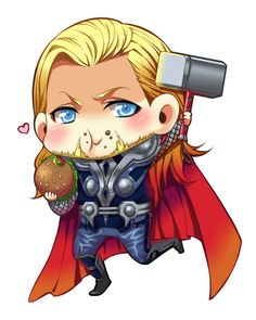 Thor - Should be a Poptart, not a burger, but adorable.