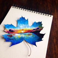 À seulement 16 ans, grâce à de la peinture et des feuilles d'arbres, elle a inventé un art dont personne ne soupçonnait l'existence !