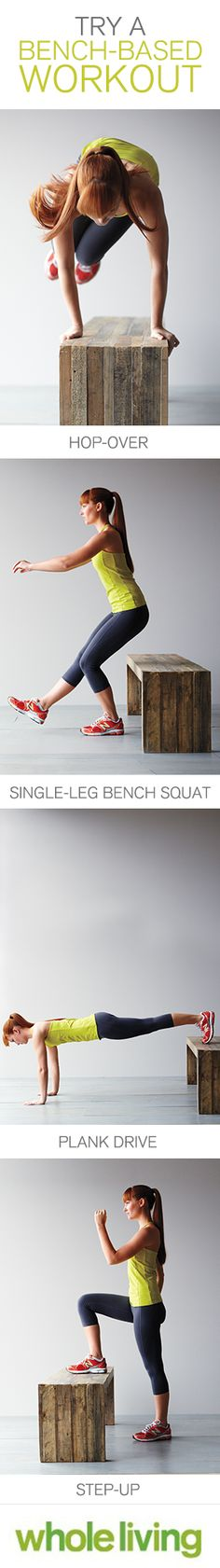 Get outside and hit the bench with this total-body workout, Wholeliving.com