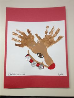 Christmas Crafts for babies Reindeer Hand amp; Daycare Crafts, Baby Crafts, Crafts To Do, Preschool Crafts, Holiday Crafts, Kid Crafts, Christmas Handprint Crafts, Daycare Rooms, Toddler Art