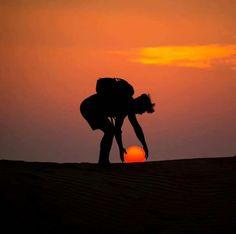 Golden hour in the nature Al Qudra Desert Dubai UAE. Photo by Illusion Photography, Sunset Photography, Creative Photography, Photography Poses, Amazing Photography, Travel Photography, Cool Pictures, Cool Photos, Amazing Photos
