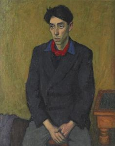 Portrait of John Minton by Robert Buhler, 1949 (oil on canvas) Figure Painting, Painting & Drawing, John Minton, National Art, Royal College Of Art, Portrait Art, Male Portraits, London Art, Romanticism