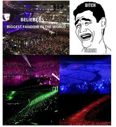 If u combine ALL kpop fans, its definitly more than the amount of beliebers! Love the kpop fandoms with all its colours <3