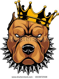 Illustration about Vector illustration of a pit bull dog head in a golden crown, king, on a white background. Illustration of angry, graphic, british - 109053016 Graffiti Art, Wie Zeichnet Man Graffiti, Graffiti Drawing, Pitbull Tattoo, Pitbull Drawing, Cartoon Kunst, Cartoon Art, Art And Illustration, Dope Kunst