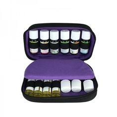 Trousse de rangement huiles essentielles et roll'on Dayoune -14 flacons - les-huiles-essentielles-bio