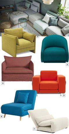 fauteuils convertibles design qui se déplient Outdoor Furniture Sets, Outdoor Decor, Sofa, Throw Pillows, Design, Home Decor, Style