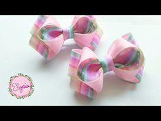 Laço Indria 🎀 Ribbon Bow Tutorial 🎀 DIY by Elysia Handmade Kanzashi Tutorial, Fabric Bow Tutorial, Hair Bow Tutorial, Fabric Hair Bows, Diy Hair Bows, Diy Ribbon, Ribbon Bows, Ribbon Hair, Ribbons