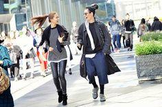 The folks of Seoul Fashion Week (source: Modern Mumu).