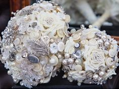 This Exquisite collection of bouquets and accessories have been designed and lovingly crafted with romance in mind using an assortment of vintage  buttons, delicate pearls, ...