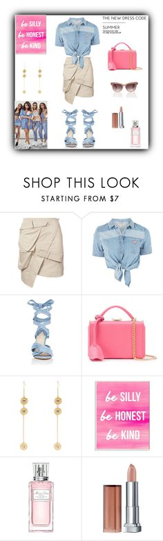 """The Summer Dress Code"" by rboowybe ❤ liked on Polyvore featuring Alexandre Vauthier, GUESS, Altuzarra, Mark Cross, Sonia Rykiel, Stupell, Christian Dior and Maybelline"