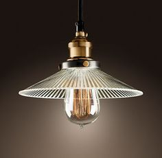 Lighting Solutions_Mono Filament Pendant_hat_ribbed glass.jpg