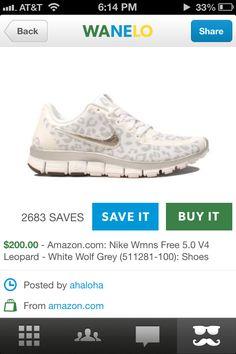952c059a017 White cheetah Nike s 💙 Like👍 Cheetah Nikes