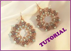 Regina di Cuori earring tutorial. How to make a pair by 75marghe75