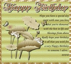 Lovely flower and butterfly card with sweet verse for someone special. Free online Hope You Have A Special Day ecards on Birthday Birthday Toast, Birthday Hug, Birthday Songs, Very Happy Birthday, It's Your Birthday, Birthday Wishes Greetings, Birthday Wishes Funny, Birthday Sparklers, Beautiful Birthday Cards