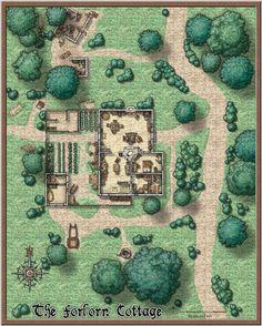 Battlemap D&d Cabin Map 8