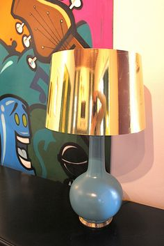 DIY gold lampshade covers