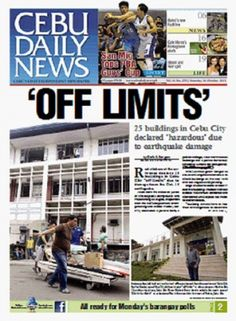 Cebu Daily News-25 buildings condemned after earthquake