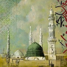 Al-masjid An-nabawi Painting by Corporate Art Task Force