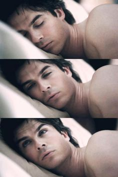 just snapping some shots of my boyfriend this morning when he was waking up :) [ Ian Somerhalder ]