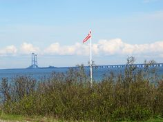 Sorebæltsbroen set fra Nyborg strand. The Great Belt Bridge seen from the beach in Nyborg #visitfyn