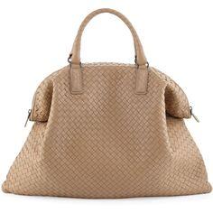 Convertible Veneta Tote Bag, Khaki - Bottega Veneta found on Polyvore