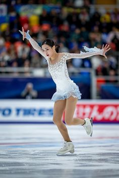 Eunsoo Lim of Korea competes in the Ladies Short Program during day 1 of the ISU Grand Prix of Figure Skating, Rostelecom Cup 2018 at Arena Megasport on November 2018 in Moscow, Russia. Get premium, high resolution news photos at Getty Images Figure Skating Competition Dresses, Figure Skating Outfits, Figure Skating Costumes, Figure Skating Dresses, White Leotard, Dance Costumes Lyrical, Rhythmic Gymnastics Leotards, Skater Girls, Moscow Russia