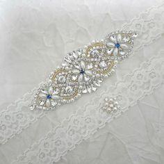 Blue Garter, Garter Set, Something Blue, Garter Wedding, Wedding Garters, Ivory, Etsy Shop, Pearls, Bridal Belts