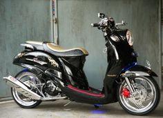 Modifikasi Yamaha Fino blue core 125 clasic