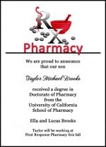 Pharmacy School Rx Graduation Announcement and Invitation Wording Samples and Ideas at InvitationsByU.com