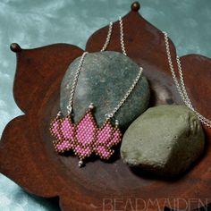 Beadwoven Lotus Necklace