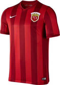 The new Shanghai SIPG 2016 kit boasts a strong and modern design in red.