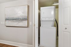 For your convenience, our apartment homes offer in-unit washers and dryers. #ReNewFiveNinetyFive #IAmRenewed #Amenities #Apartments